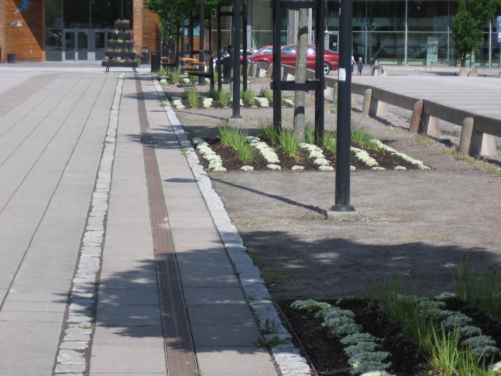 Plantering vid Arena Skövde